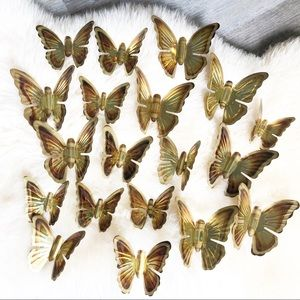 Large Lot Homco Home Interiors Metal Butterfly Set
